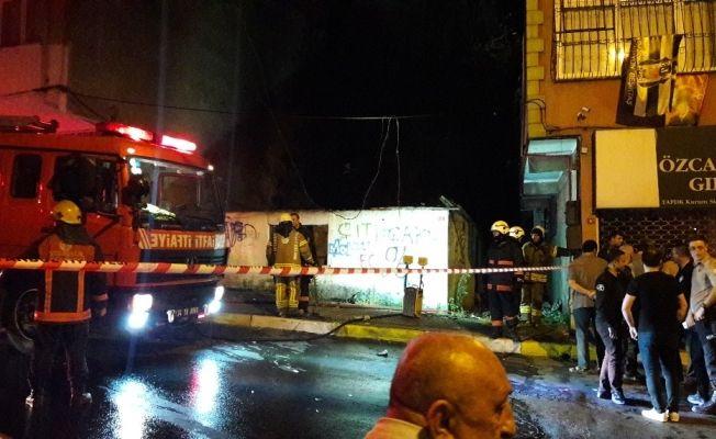 Sarıyer'de boş bir gecekonduda tüp patladı