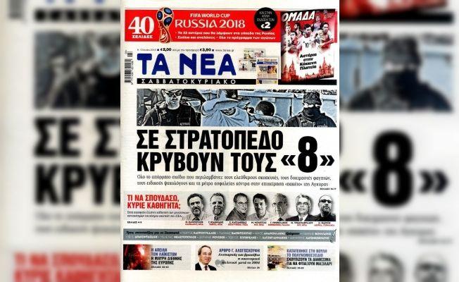Yunan gazetesi 8 darbecinin kışlada korunduğunu iddia etti