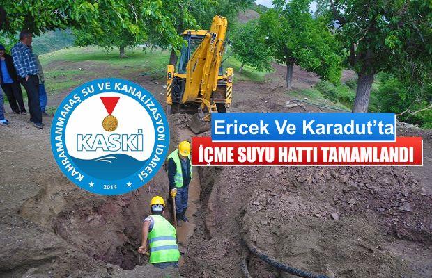 Ericek ve Karadut'ta Su Çalışması Bitti