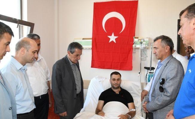Vali Kalkancı'dan Tunceli gazisine geçmiş olsun ziyareti