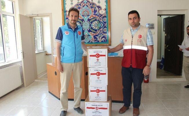 Türkiye Diyanet Vakfı Kütahya Şubesi'nden ihtiyaç sahipleri için yardım kolisi