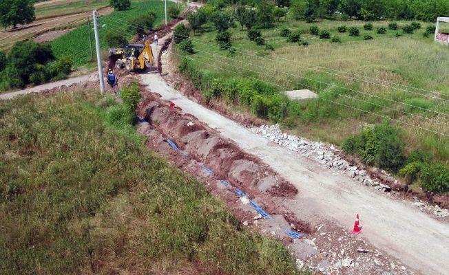 Kızılcaali'nin içmesuyu şebekesi yenilendi