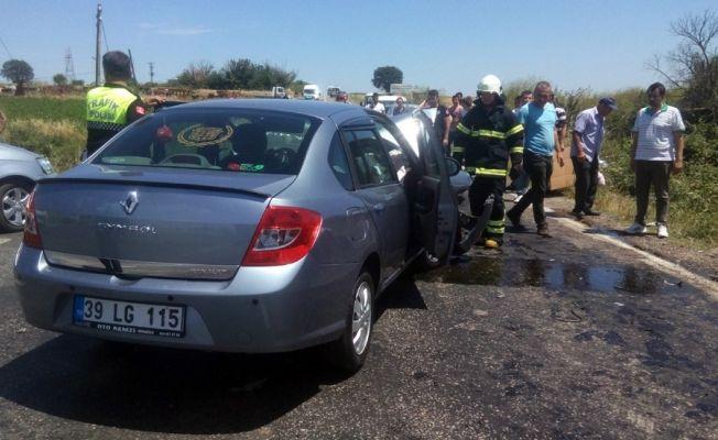 Hayrabolu'da trafik kazası: 5 yaralı