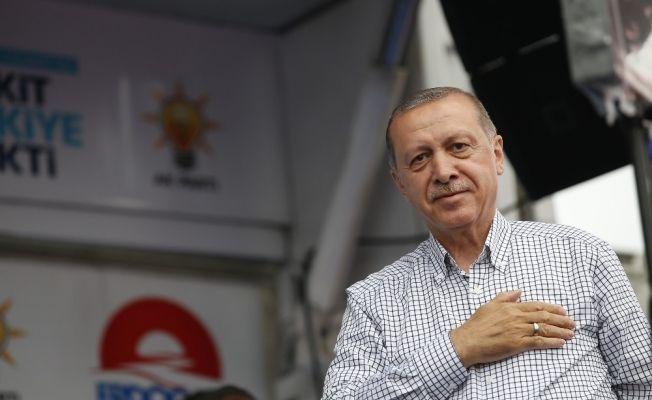 """Cumhurbaşkanı Erdoğan: """"Biz durmuyoruz, çalışıyoruz, bunların böyle bir derdi yok"""""""