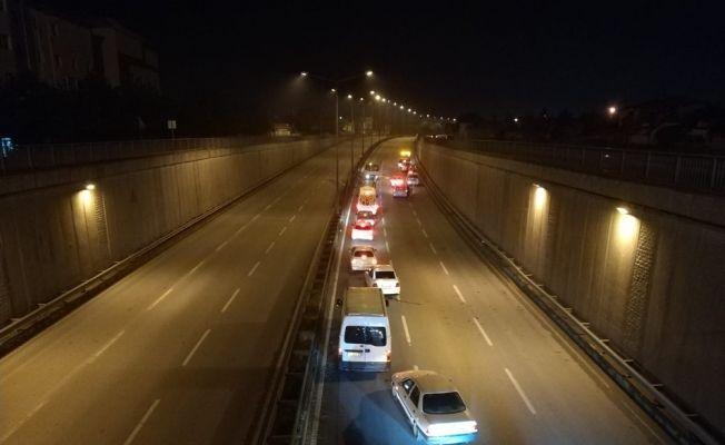 Eskişehir'de yağışlı hava zincirleme kazaya neden oldu