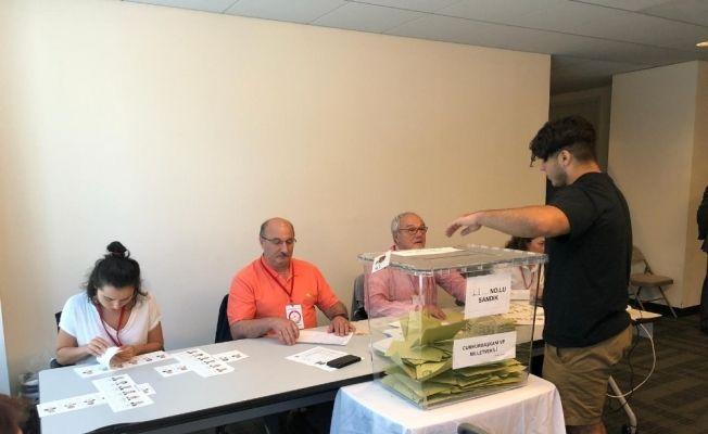 ABD'de yaşayan Türkler seçimlerin son günü sandığa büyük ilgi gösterdi