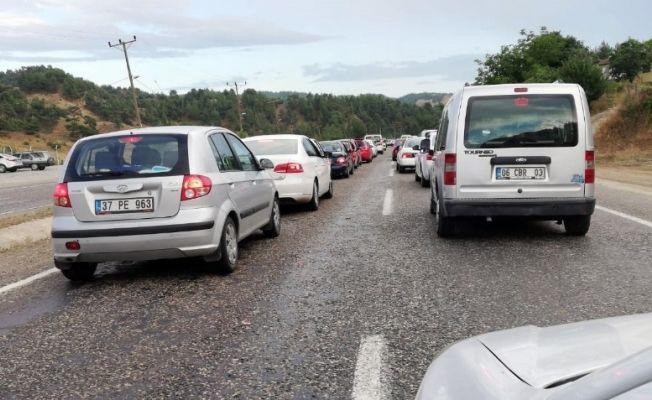 Kahramanmaraş'ta bayram dönüşü trafik yoğunluğu
