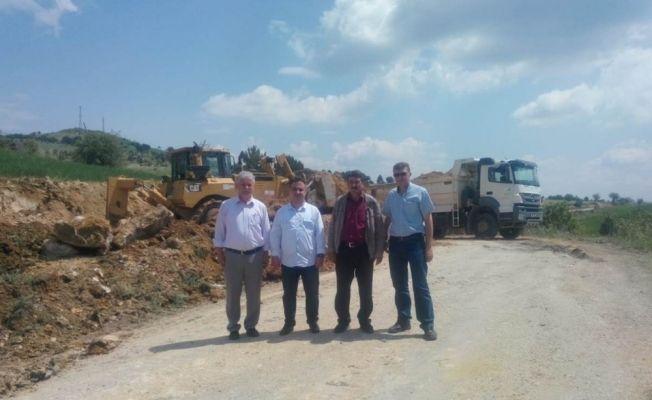 Simav'da köy yolu yapımı
