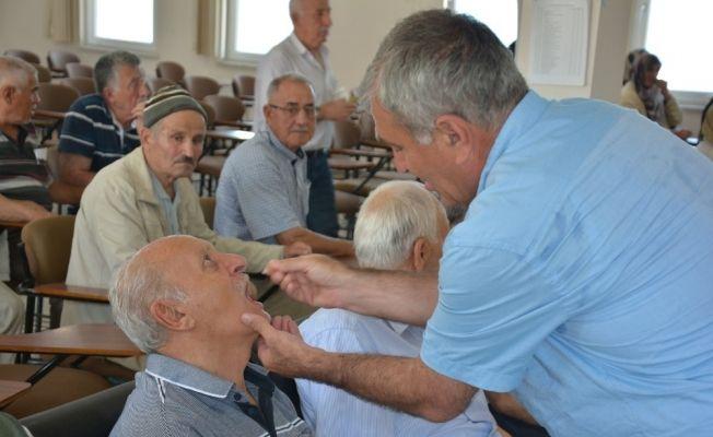 Sinoplu hacı adayları aşı oldu