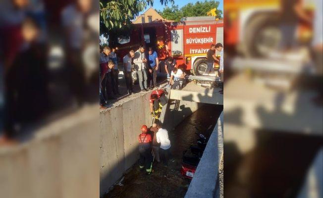 Elektrikli bisiklet, sulama kanalına uçtu 1 kişi yaralandı