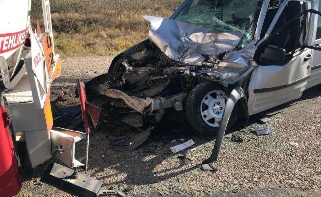 Elbistan'da feci trafik kazası