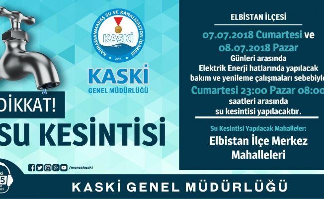 KASKİ'den 14 mahallede su kesintisi uyarısı