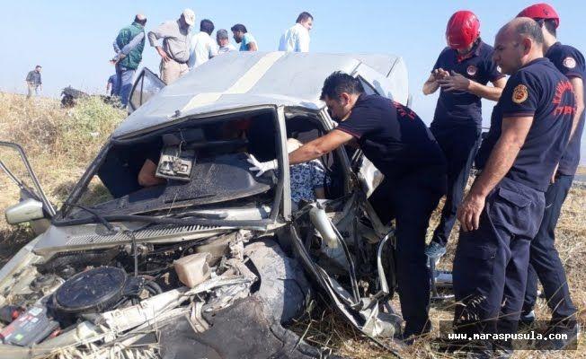 Kahramanmaraşta trafik kazası: 1 ölü, 3 yaralı