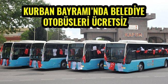Kurban Bayramı Boyunca Belediye Otobüsleri Ücretsizdir!