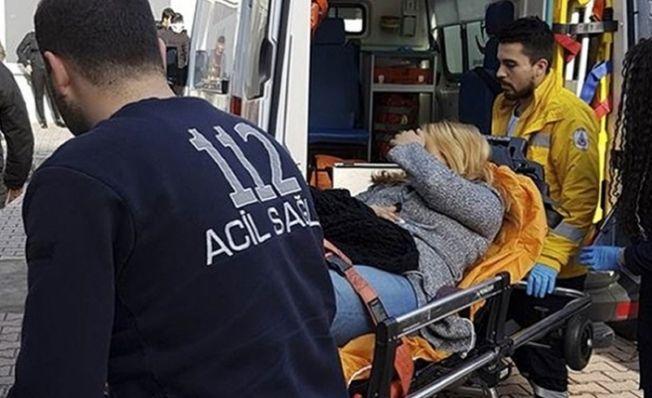 Elbistan'da kadının göğsüne yorgun mermi isabet etti!