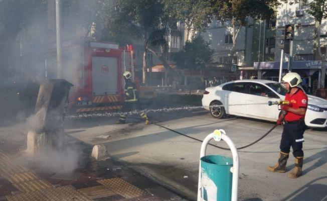 Adana'da elektrik trafosunda yangın