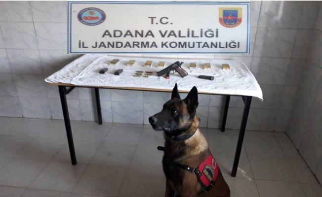 Adana'da ruhsatsız tabanca ele geçirildi