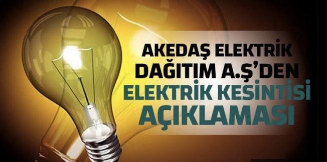Elbistan'da bazı mahallelerde elektrik kesintisi yapılacak