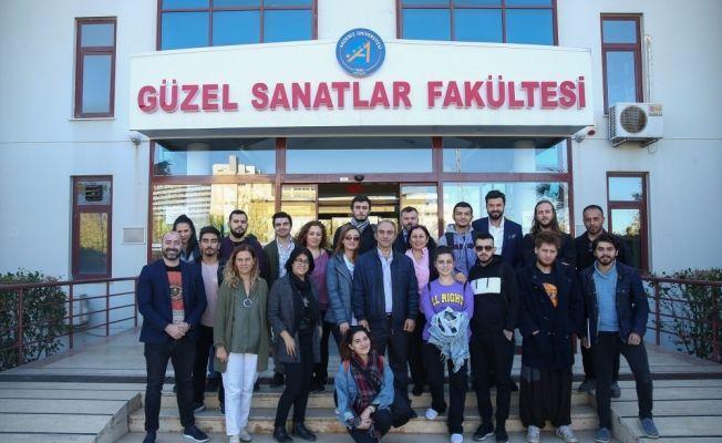 TFSF Başkanı Özdemir, AÜ öğrencileriyle buluştu