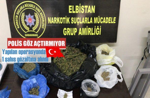 Elbistan'da narkotik şube zehir tacircilerine göz açtırmıyor