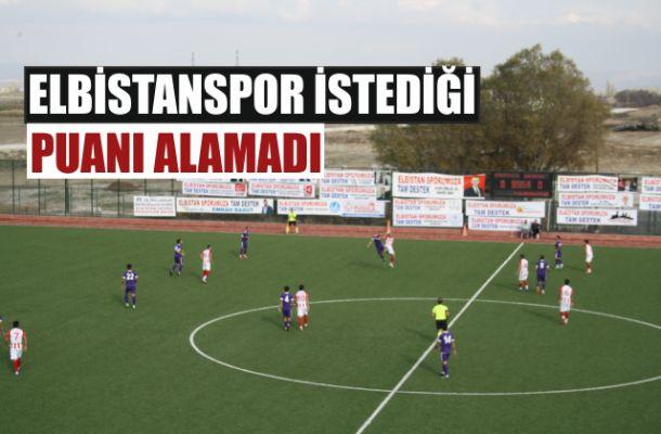 Elbistanspor, 1920 Maraşspor'a 2-0 yenildi