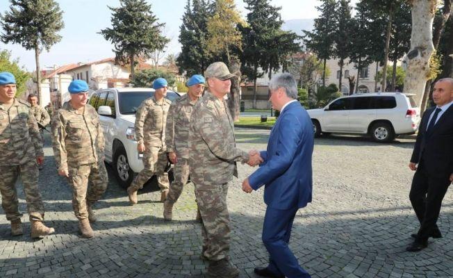 2. Ordu Komutanı Orgeneral Temel'den Vali Doğan'a ziyaret
