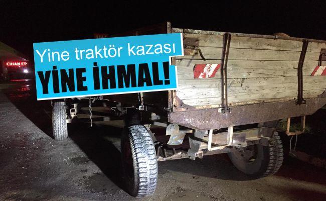 Elbistan'da araç traktörün römorkuna çarptı: 5 yaralı