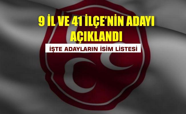 MHP 50 belediye başkan adayını açıkladı!