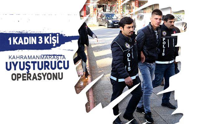 Kahramanmaraş'ta uyuşturucu satıcılarına yönelik operasyon