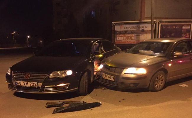 Elbistan'da korkutan kaza: İki araç çarpıştı!