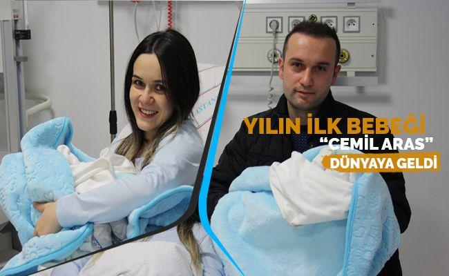 Elbistan Devlet Hastanesi'nde yeni yılın ilk bebeği dünyaya geldi