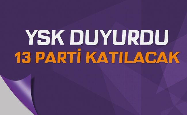 YSK, 31 Mart yerel seçimlerine katılabilecek partileri açıkladı.