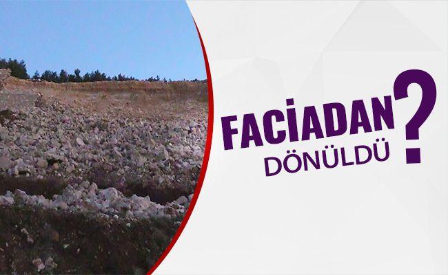 Kahramanmaraş'ta toprak kayması sonucu istinat duvarı çöktü