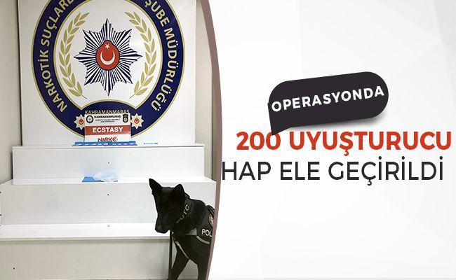 Kahramanmaraş'ta uyuşturucu tacirlerine operasyon