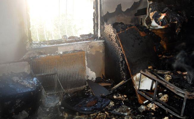 Kahramanmaraş'ta apartmanda yangın çıktı