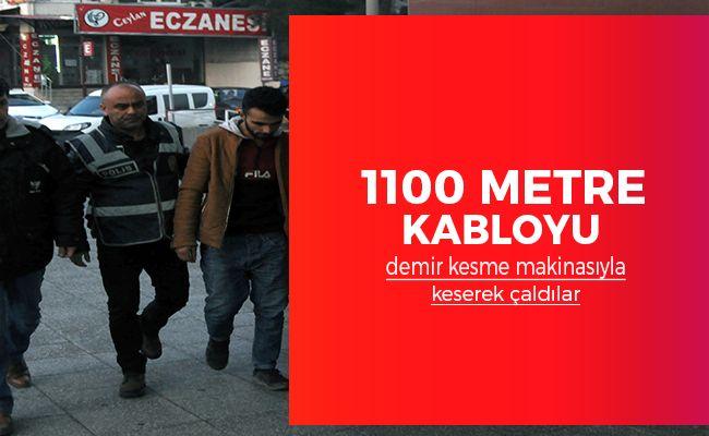 Türk Telekom'a ait kabloları çalan hırsızlar yakalandı!