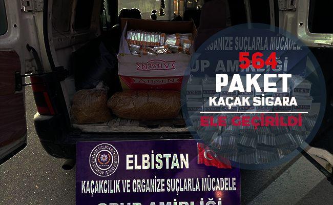 Elbistan'da kaçak sigara operasyonu düzenlendi