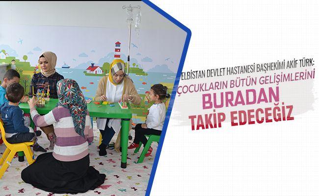 Elbistan Devlet Hastanesine çocuk oyun alanı kuruldu
