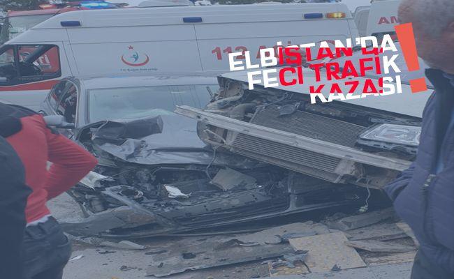 Elbistan'da feci kazada bir kişi yaralandı