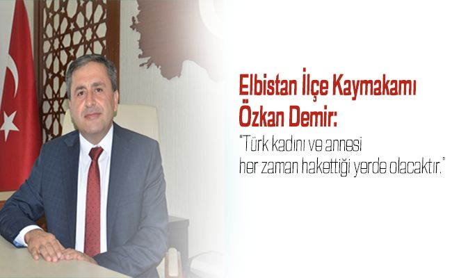 Kaymakam Demir'den 'Kadınlar Günü' Mesajı