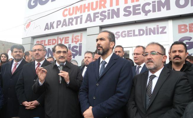 Enerji ve Tabii Kaynaklar Bakanı Fatih Dönmez Elbistan'da
