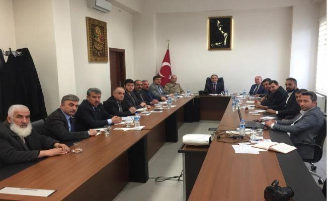 Elbistan'da seçim güvenliği toplantısı yapıldı