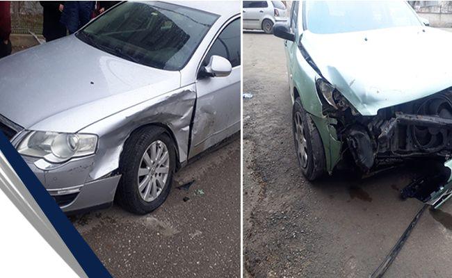 Fren yerine gaza basan kadın sürücü kaza yaptı