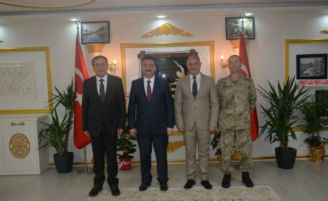 Elbistan protokolünden başkan Gürbüz'e ziyaret