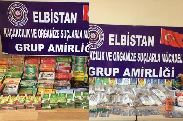 Elbistan'da kaçakçılık operasyonu; çok sayıda kaçak ürün ele geçirildi