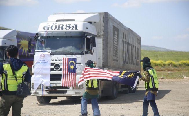 Malezya ve Türkiye'den İdlib'e yardım