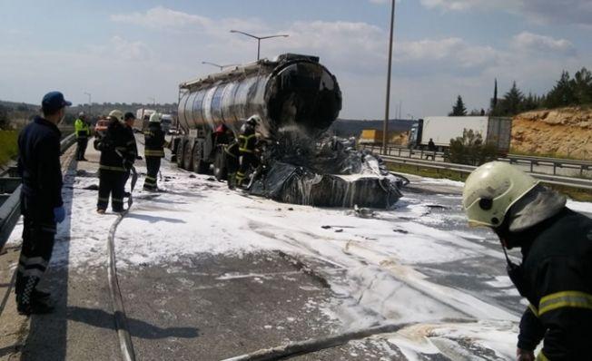 Kahramanmaraş'ta tanker faciası! Sürücü yanarak hayatını kaybetti