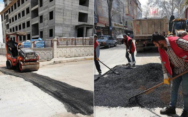 Elbistan'da asfalt yama çalışmaları sürüyor