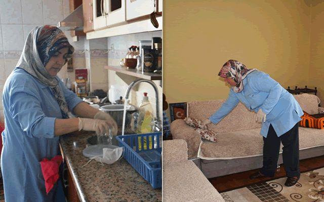 Elbistan Belediyesinden kimsesiz ve yaşlılara evde temizlik hizmeti