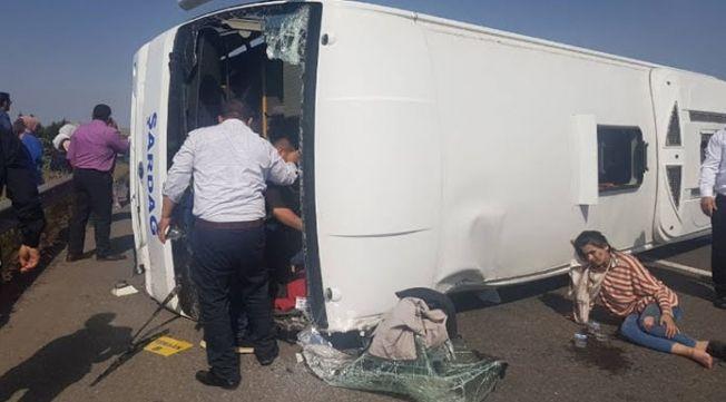 Elbistanlı işçileri taşıyan minibüs devrildi: çok sayıda ölü ve yararılar var
